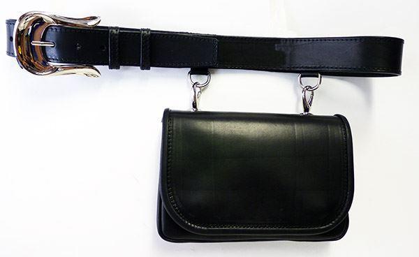 Immagine di Cintura con borsetta in cuoio